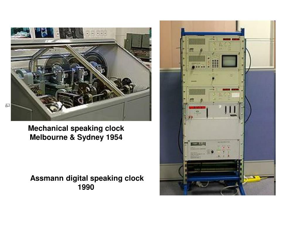 Mechanical speaking clock