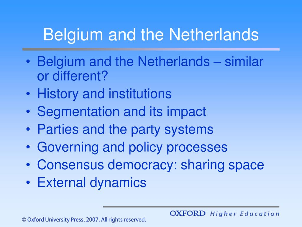 Belgium and the Netherlands