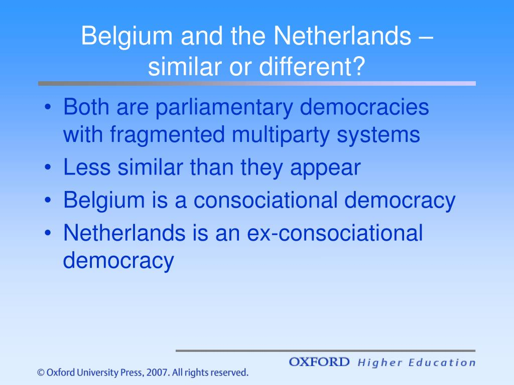 Belgium and the Netherlands – similar or different?