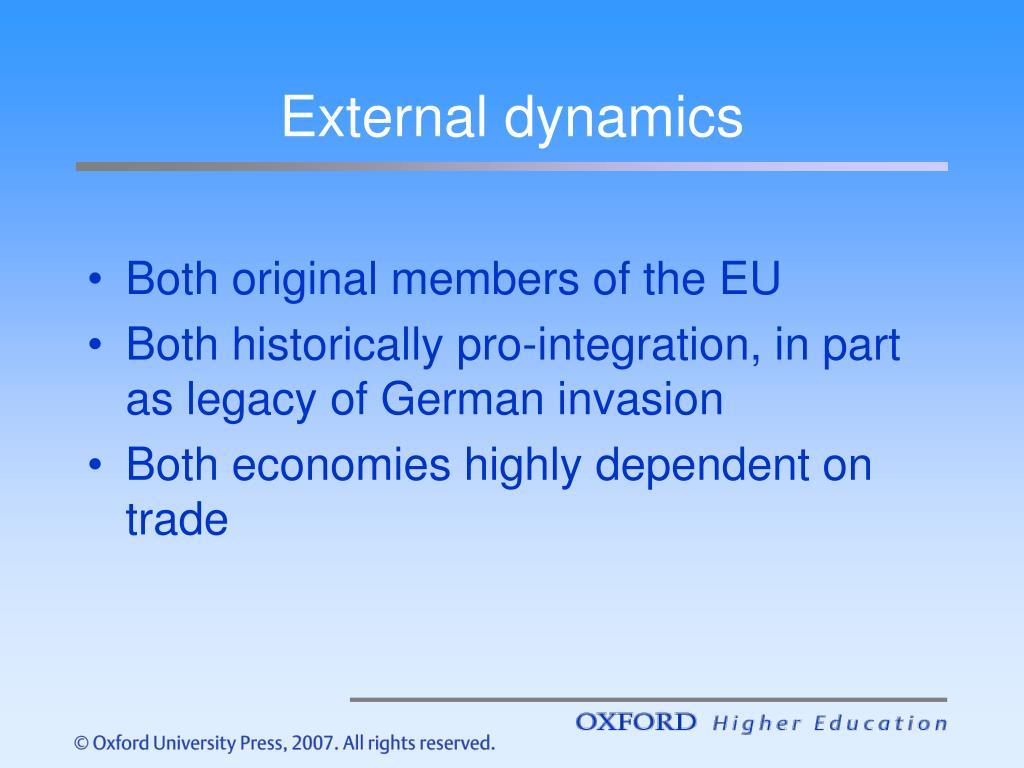 External dynamics