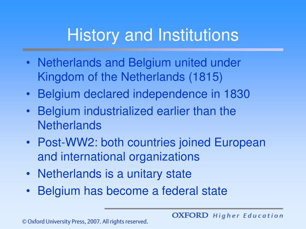 History and Institutions