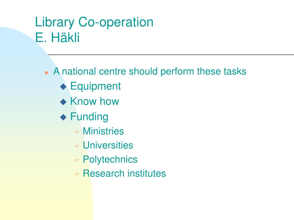 Library Co-operation