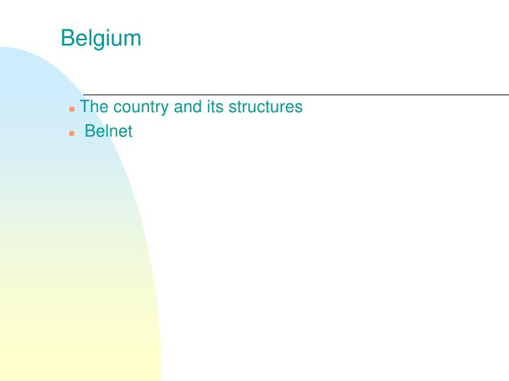 The country and its structures belnet
