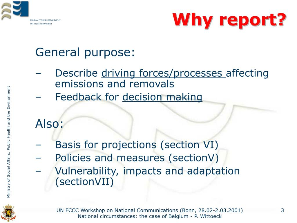 Why report?