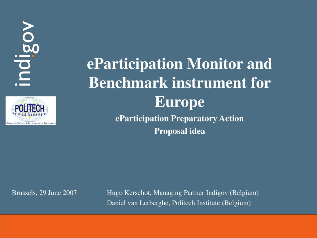 eParticipation Monitor and Benchmark instrument for Europe