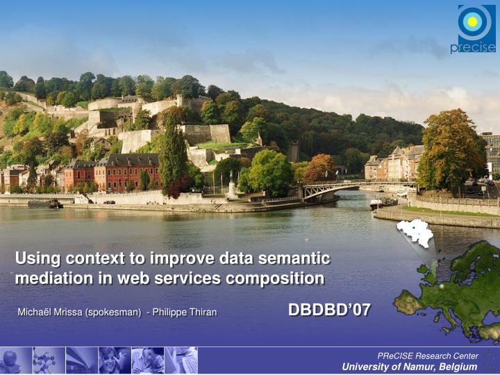 Using context to improve data semantic mediation in web services composition l.jpg