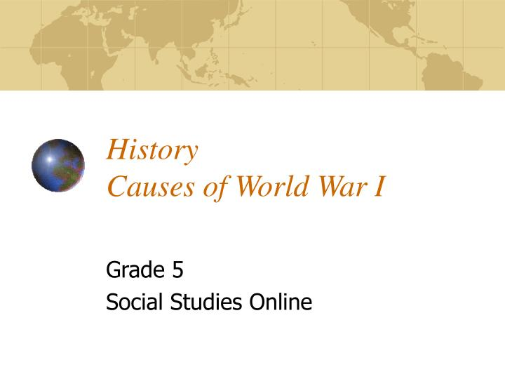 History causes of world war i