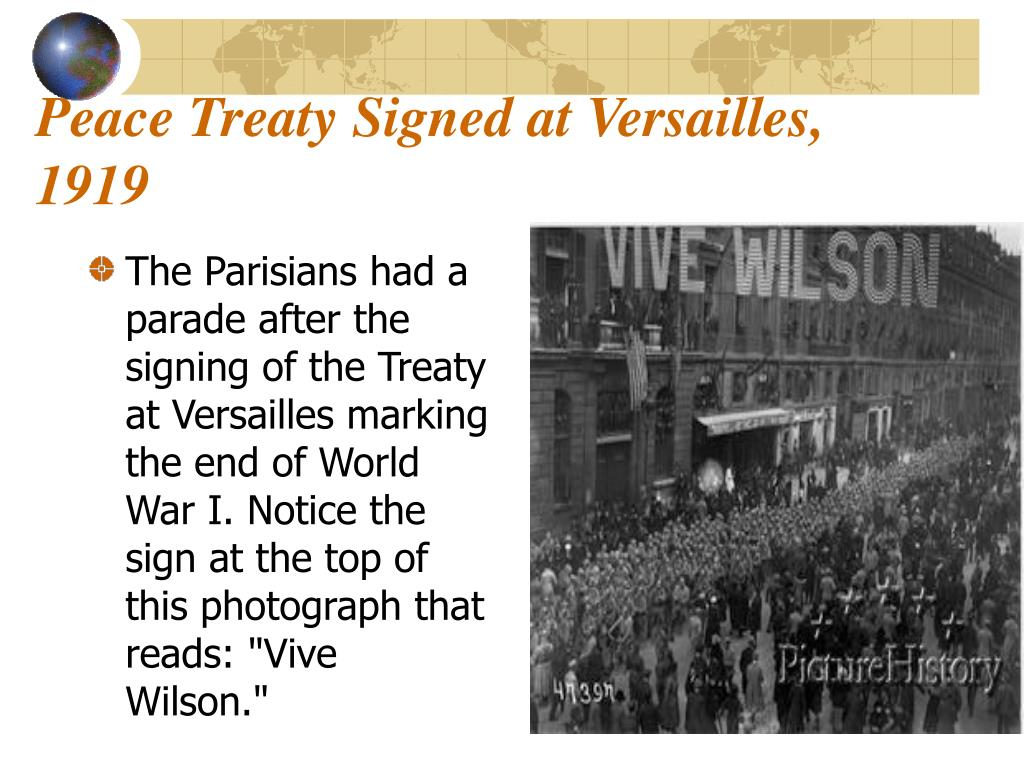 Peace Treaty Signed at Versailles, 1919