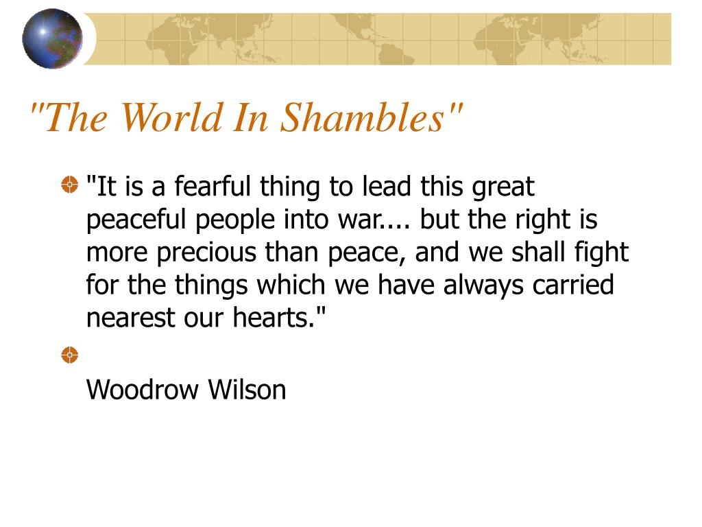 """The World In Shambles"""