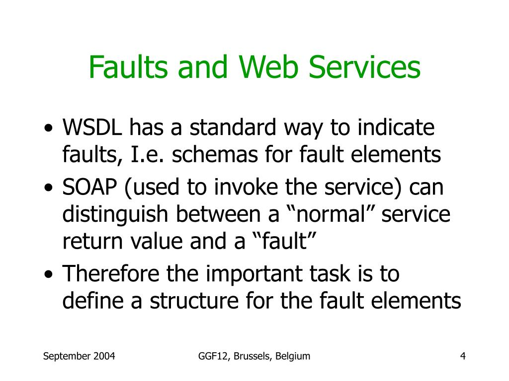 Faults and Web Services