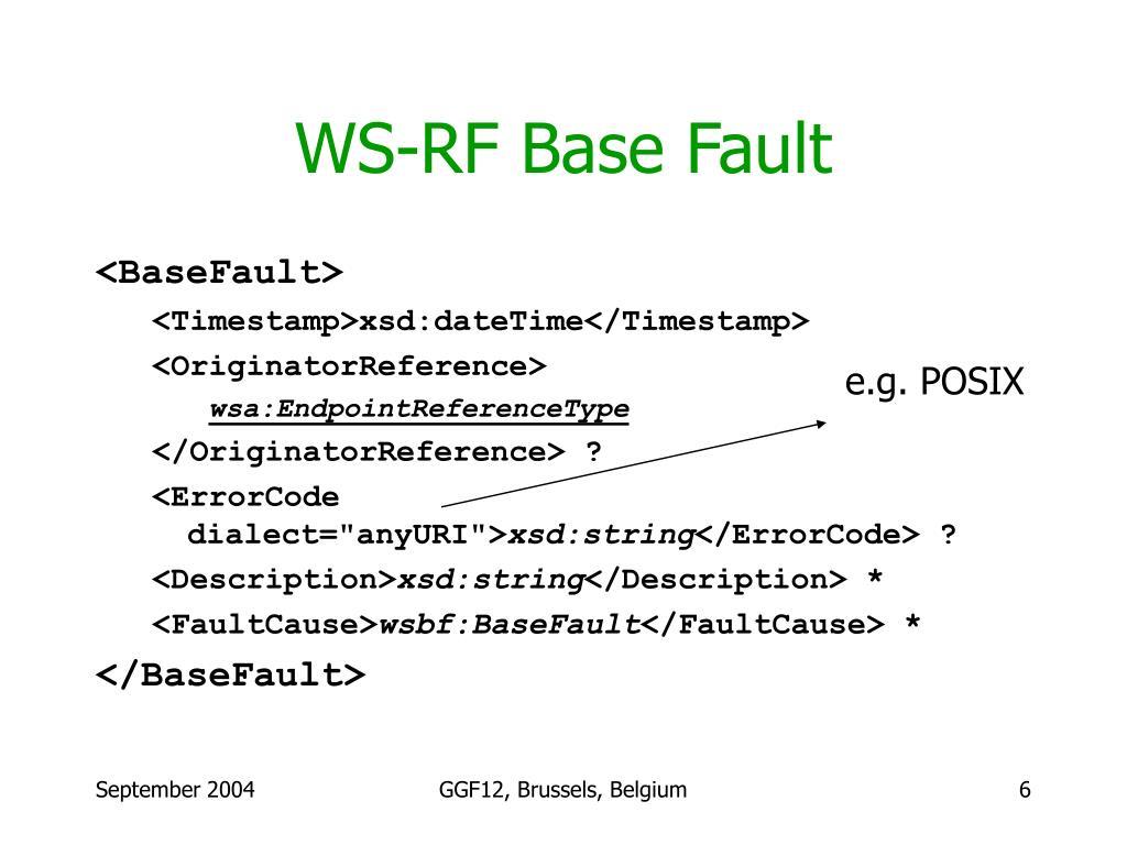 WS-RF Base Fault
