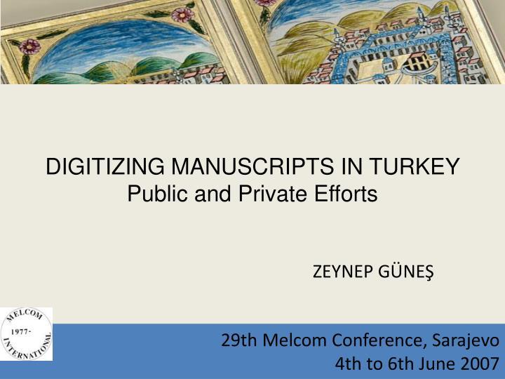 29th Melcom Conference, Sarajevo