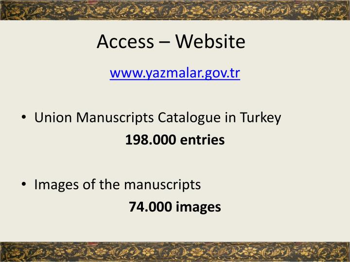 Access – Website