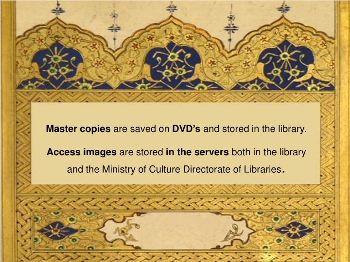 Master copies