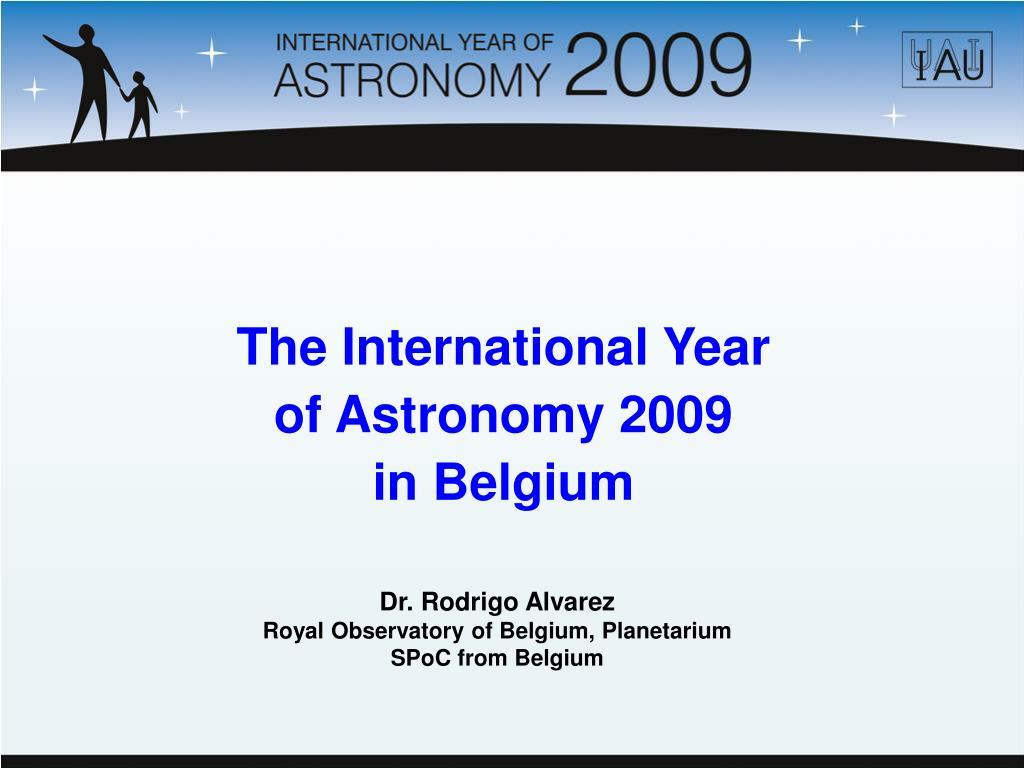 The International Year