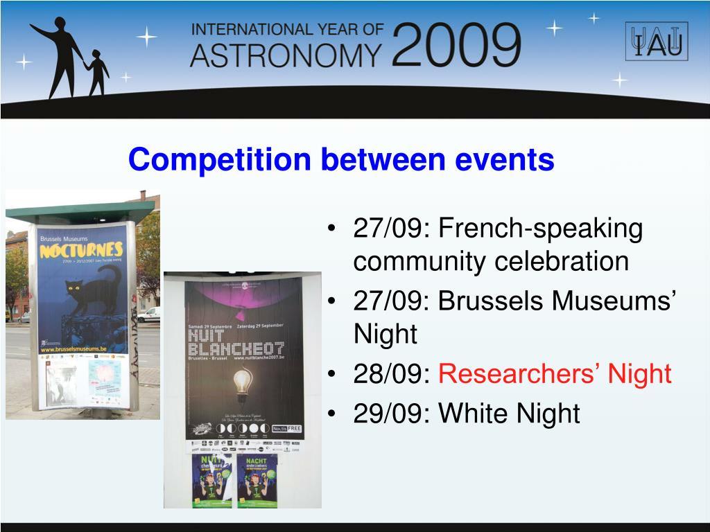 27/09: French-speaking community celebration