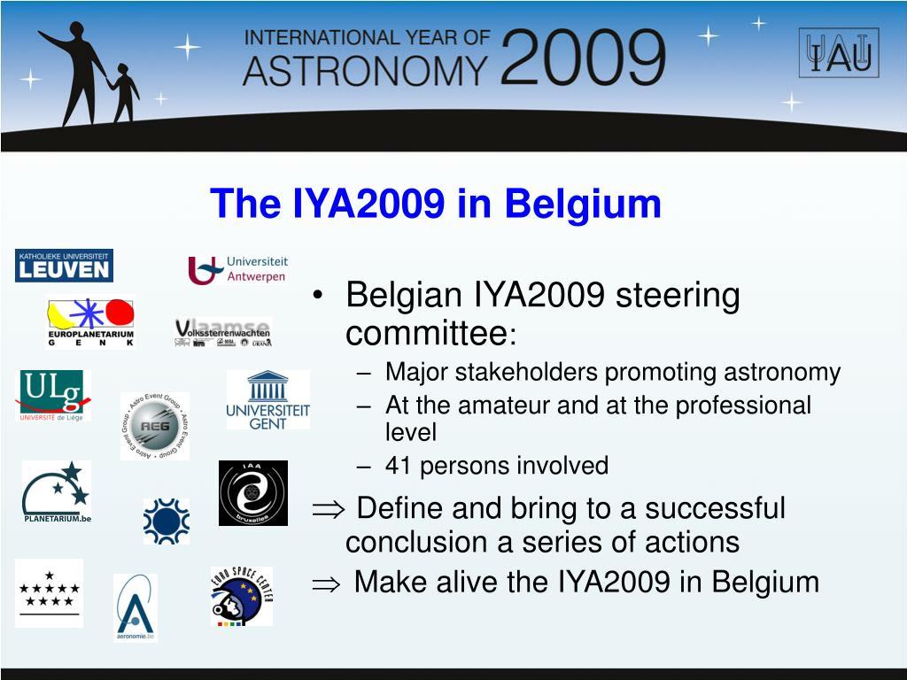 Belgian IYA2009 steering committee