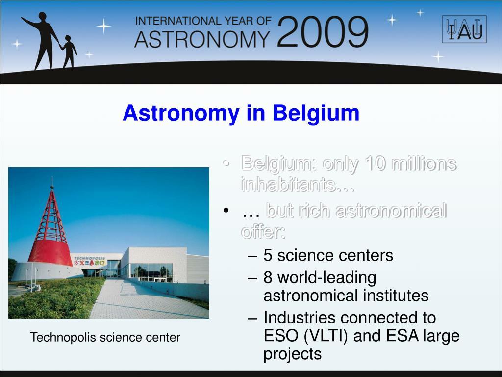 Belgium: only 10 millions inhabitants…