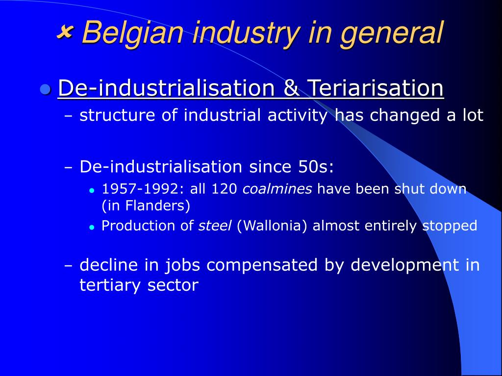  Belgian industry in general
