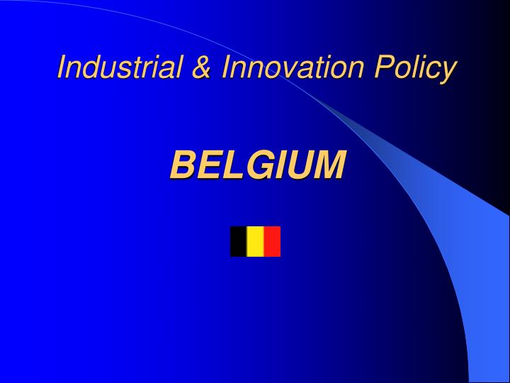 Industrial innovation policy