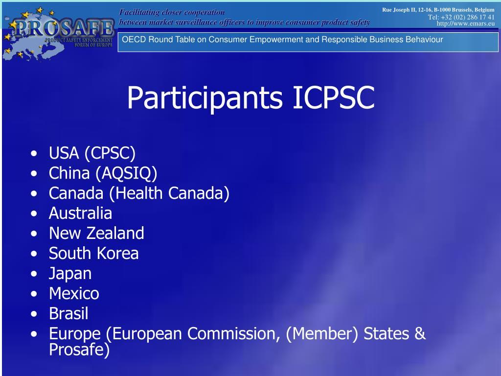 Participants ICPSC