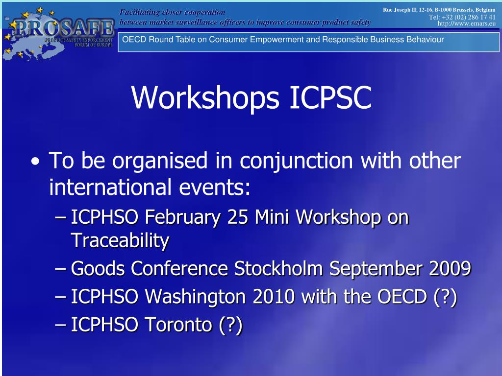 Workshops ICPSC