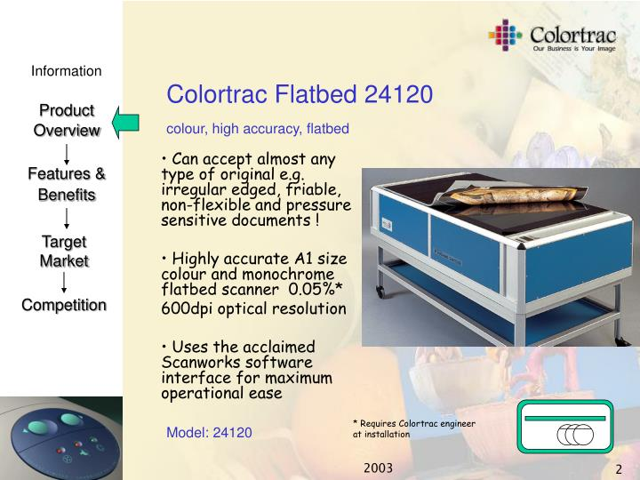 Colortrac flatbed 241201
