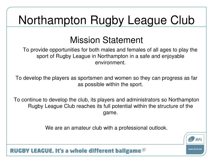 Northampton rugby league club2