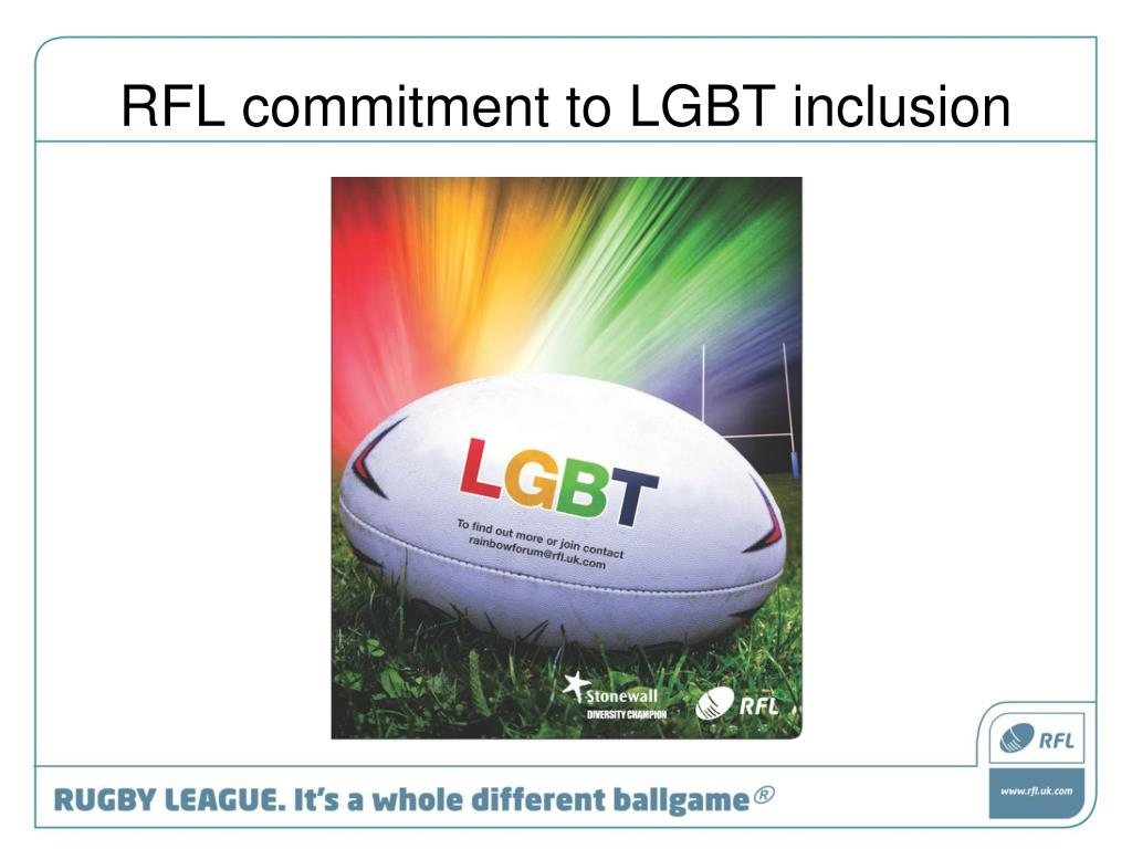 RFL commitment to LGBT inclusion