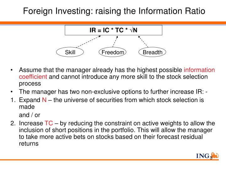 Foreign Investing: raising the Information Ratio