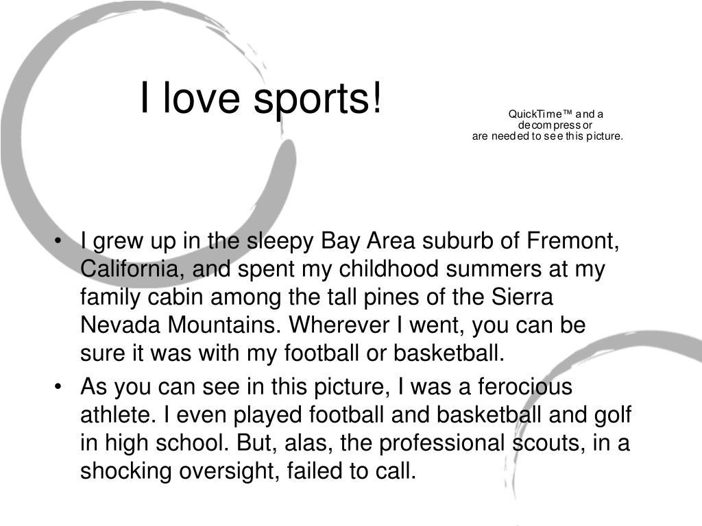 I love sports!