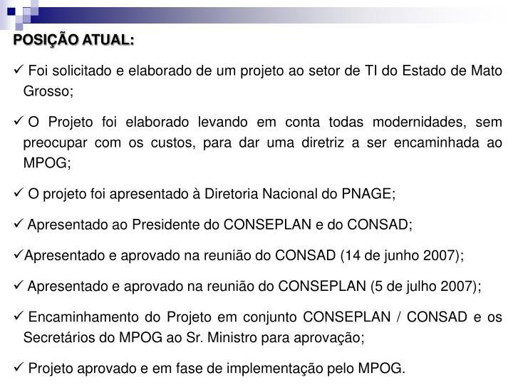 POSIO ATUAL: