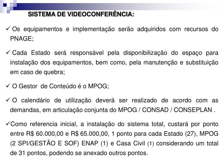 SISTEMA DE VIDEOCONFERNCIA: