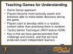 teaching games for understanding