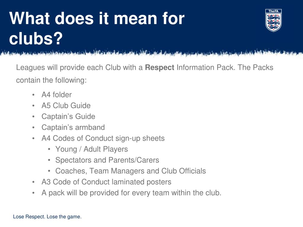 What does it mean for clubs?