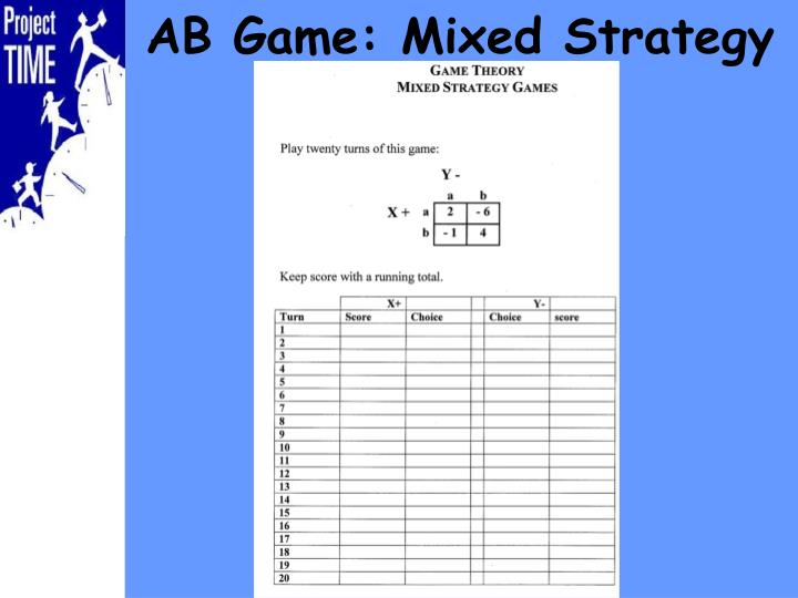 AB Game: Mixed Strategy
