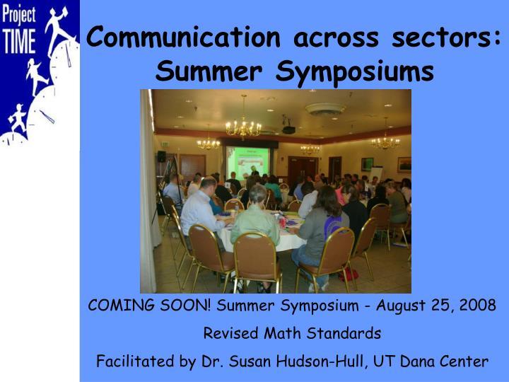 Communication across sectors:
