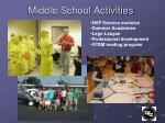 middle school activities