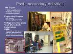 post secondary activities
