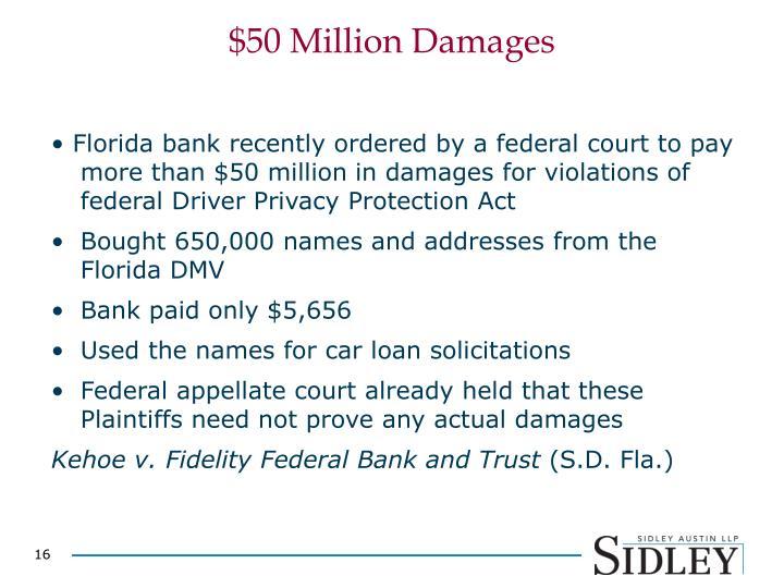 $50 Million Damages