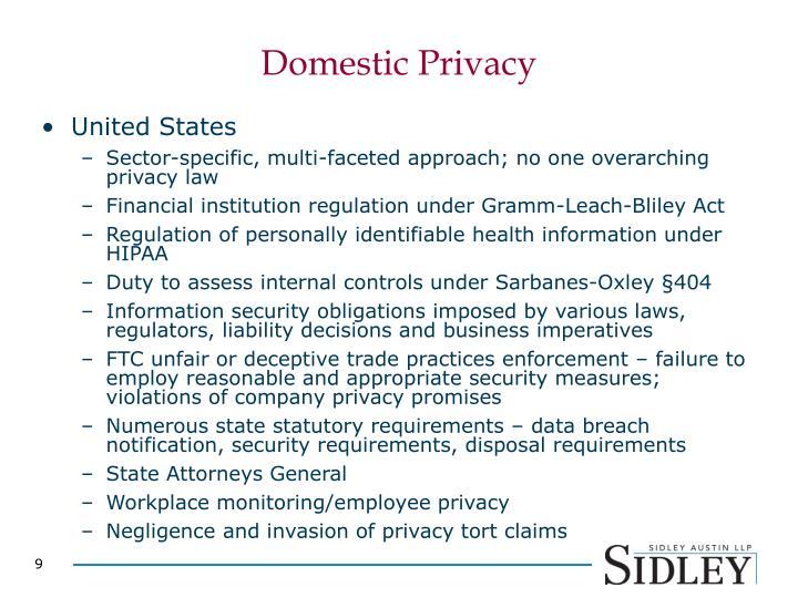 Domestic Privacy