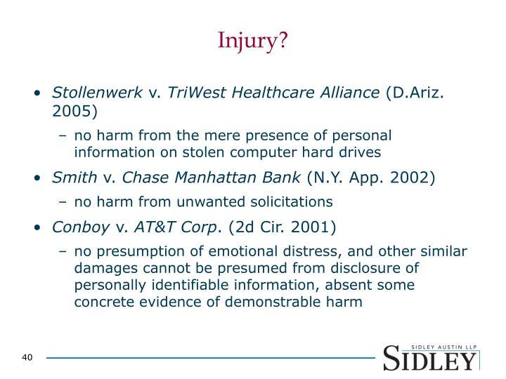 Injury?