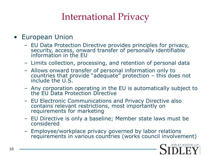 International Privacy