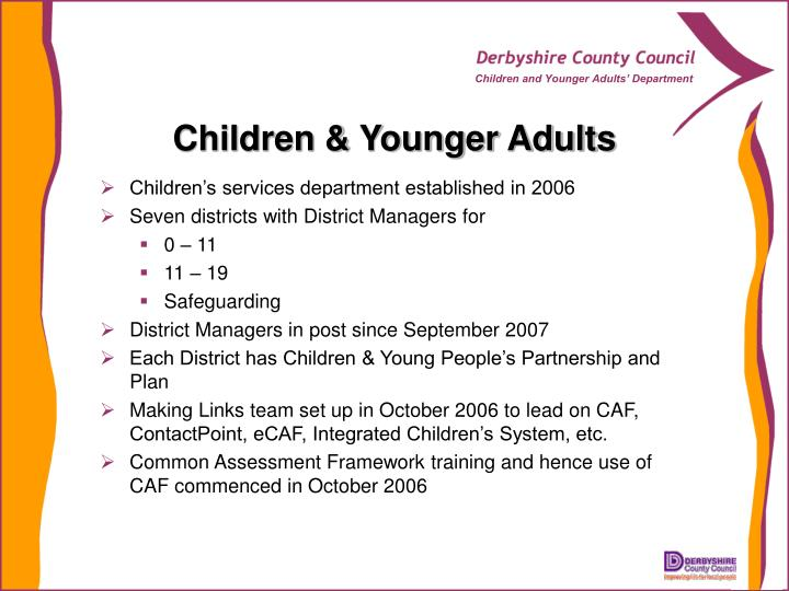 Children & Younger Adults