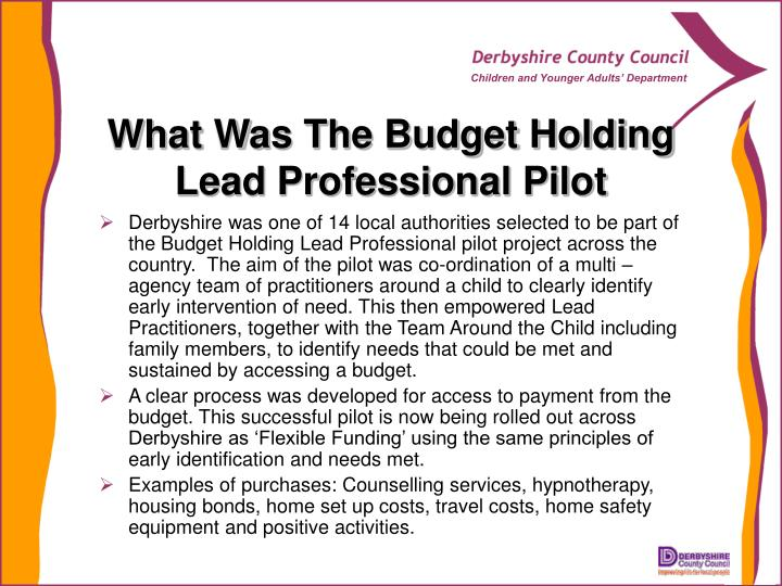 What Was The Budget Holding Lead Professional Pilot