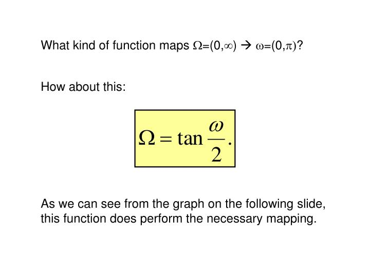 What kind of function maps
