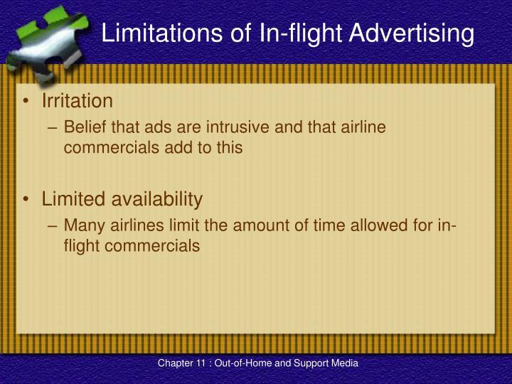 Limitations of In-flight Advertising