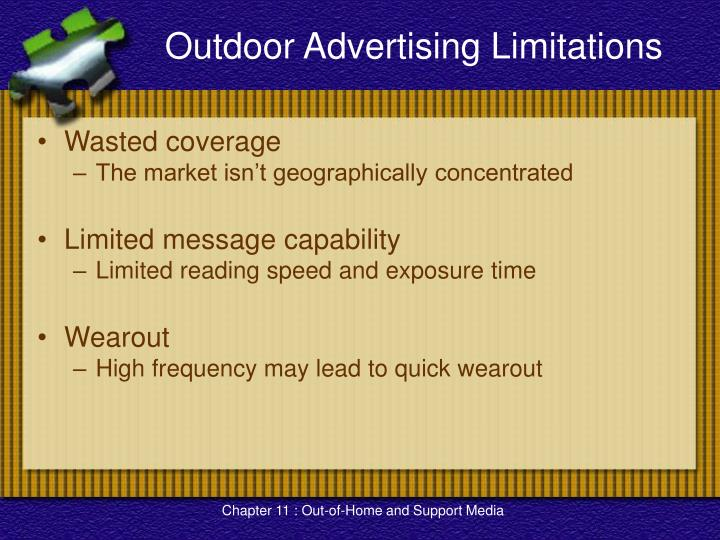 Outdoor Advertising Limitations