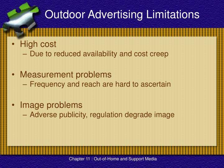 Outdoor Advertising Limitations