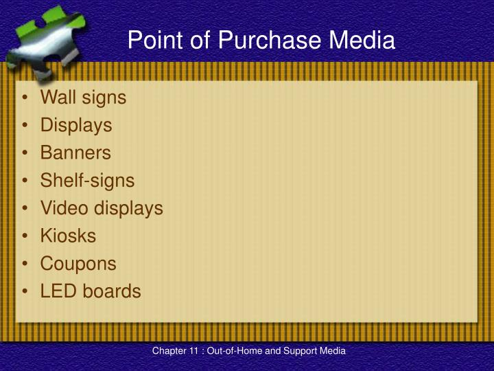 Point of Purchase Media